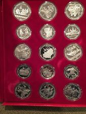 Russia / USSR 1980 Olympics 28-Coin Silver Proof Set with the original case