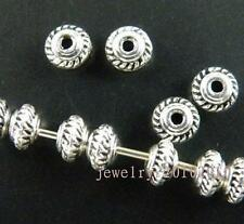 400pcs Tibetan Silver Little Bicone Spacer Beads 5x3mm