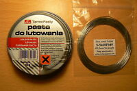 Electronic Solder Flux Paste 40g + 3m Fine low melting pt solder wire for 50p
