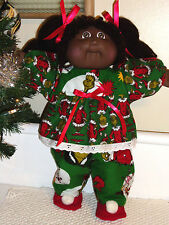 Cabbage Patch Kids Doll Clothes CHRISTMAS GRINCH PJs for 16 to 18 inch dolls