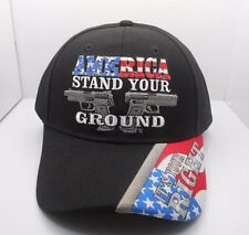 2nd Amendment America Stand your ground Pistols Gun Rights New Ball Cap Hat H18