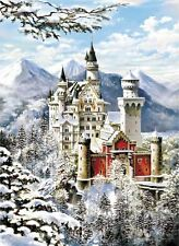 2000 Pieces Mini Jigsaw Puzzle - Nueschwanstein Castle Winter by Anonymous