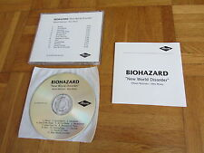 BIOHAZARD New World Disorder Remixes Mixes GERMANY collectors CD acetate album