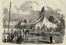 Lake Park Chicago Illinois National Ship Canal Convention Event Tent, 1863 Print