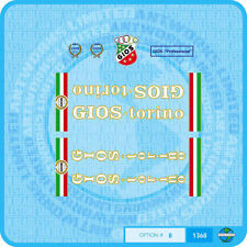 Gios Torino Professional Bicycle Decals - Transfers - Stickers - Set 8