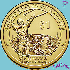 2015-P NATIVE AMERICAN SACAGAWEA DOLLAR FROM MINT UNC ROLLS MOHAWK IRONWORKERS