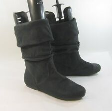 new Blacks  flat round toe comfortable sexy  mid-calf boot Size. 10  p