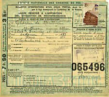 FRANCE COLIS POSTAUX N° 204 SUR BULLETIN D'EXPEDITION DU 21/09/1943