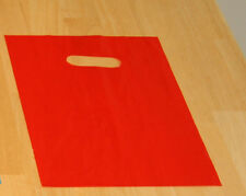 """100 9"""" x 12"""" RED  GLOSSY Low-Density Plastic Merchandise Bags"""
