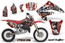 Honda CR 85 Graphic Kit AMR Racing # Plates Decal CR85 Sticker Part 03-07 MH RS