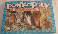 NEW***PONYOPOLY Childrens Board Game Pony Themed Game Kids Version of Horseopoly