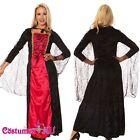 Ladies Vintage Halloween Renaissance Medieval Devil Queen Fancy Dress Costume