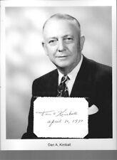 Dan A Kimball Autograph Secretary of the Navy Army Air Service Pilot Aerojet #1