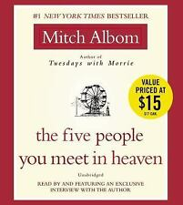 The Five People You Meet in Heaven by Mitch Albom (2008, CD, Unabridged)