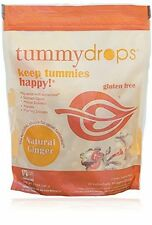 Ginger Tummy Drops Bag of 30 Individually Wrapped Drops for Tummy Help