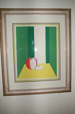 "1974 Apple ""For Eve"" Silk Screen Print signed 8/18 NEW FRAME Triple Mat Updated!"