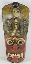 MASK POLYCHROME WOOD. NAGA RAKSHA. SRI LANKA. INDIA. XIX-XX CENTURY