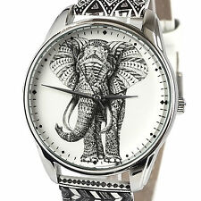 Fashion Women's Elephant Stainless Steel Quartz Wrist Watch 38mm Gifts For Her