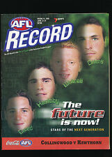 2000 AFL Football Record Collingwood Magpies vs Hawthorn round 16 unmarked
