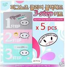 HOLIKA HOLIKA PIG NOSE CLEAR BLACKHEAD 3 STEP KIT 5 pcs KOREA