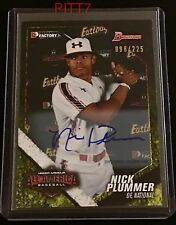 NICK PLUMMER RC AUTO 2015 BOWMAN DRAFT 2014 UNDER ARMOUR ALL-AMERICAN 98/225 20