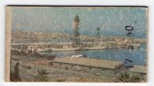 Spanish Weighing Weight Machine Card Davi & Cia Barcalona Harbour View