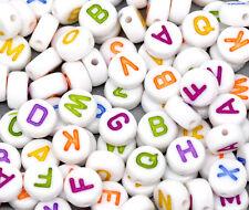 250 Mixte Perles Rond Acrylique Alphabet ~ ~ ~ collier de 7mm bracelet artisanat ~ (94C)