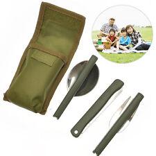 Folding Fork Spoon Set Kit Camping Bushcraft Survival Cooking MI