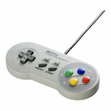 New Buffalo Super Famicom SNES SFC Classic USB Gamepad for PC Windows Japan