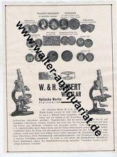Optische Werke W. & H. Seibert Wetzlar Mikroskop Große Reklame von 1928