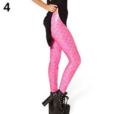 Women's Simulation Mermaid Fish Scale Skinny Pants Stretch Trendy Leggings