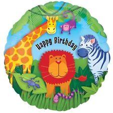 Fête Animal Sauvage Jungle Safari Joyeux Anniversaire Ballons Métalliques