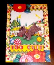 "Magnet w/Mary Engelbreit Art ""Too Cute"" Scottie Dog"