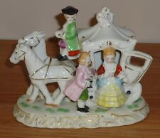 HORSE & CARRIAGE & Colonial PEOPLE Figurine made in Japan