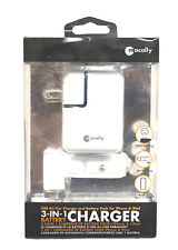 10 MACALLY 3 IN 1 CHARGER USB AC CAR CHARGER & BATTERY PACK FOR IPHONE IPOD