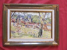 """Belle aquarelle signée LOCRET """"le village de HAUT VILLERS MARNE """""""
