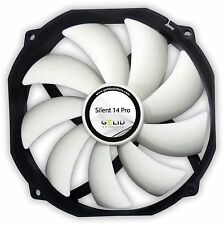 Gelid Solutions Silent 14 Pro PWM, 140mm 14cm Quiet Case Fan, 80.6 CFM Airflow