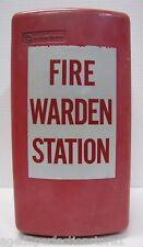 Old Retired Western Electric Fire Warden Station Metal Telephone Box bell propty