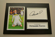 Fernando Torres Signed A4 Photo Display Chelsea Autograph Memorabilia + COA