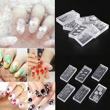 6x 3D Silicone Nail DIY Art Decortive Acrylic Cabochon Multiple Design Mold Kits