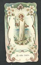 Estampa antigua del Niño Jesus andachtsbild santino holy card santini