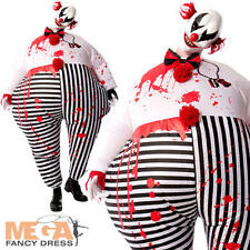 Creepy Clown Gonfiabile Da Uomo Halloween Circo Costume adulti Horror