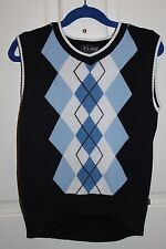 EUC E-LAND 6x/7boys navy argyle sweater vest