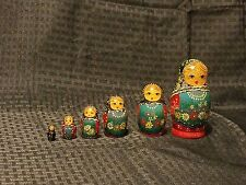 Russian Nesting Dolls Set of 6 Wood Stacking