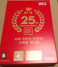 Super Mario 25th Anniversary Collection Special KOREAN Korea SEALED Wii RARE