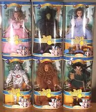 """COMPLETE SET 6 Brass Key Wizard of Oz 16"""" Porcelain Figures NEW - Charity Item"""