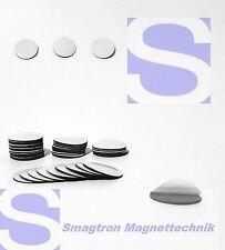 50 Stück 14mm Magnetplättchen (Takkis), selbstklebend Magnetfolie Magnetpunkte