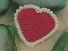 Crochet Pattern ~ HEART SCRUBBIE Dishcloth ~ Instructions