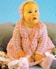 LACY LAYETTE SET birth to 6 months / 3ply - COPY baby knitting pattern