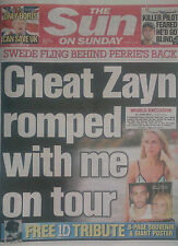 ZAYN ONE DIRECTION.1D.SOUVENIR 8 PAGE TRIBUTE.POSTER.PERRIE EDWARDS.SUN 29/3 NEW